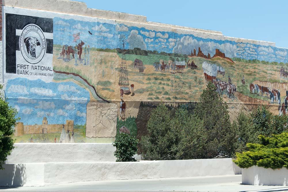 Diese Wandmalereien trifft man häufig im Mittleren Westen an.