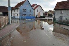 Hochwasser Werra Wartburgkeis