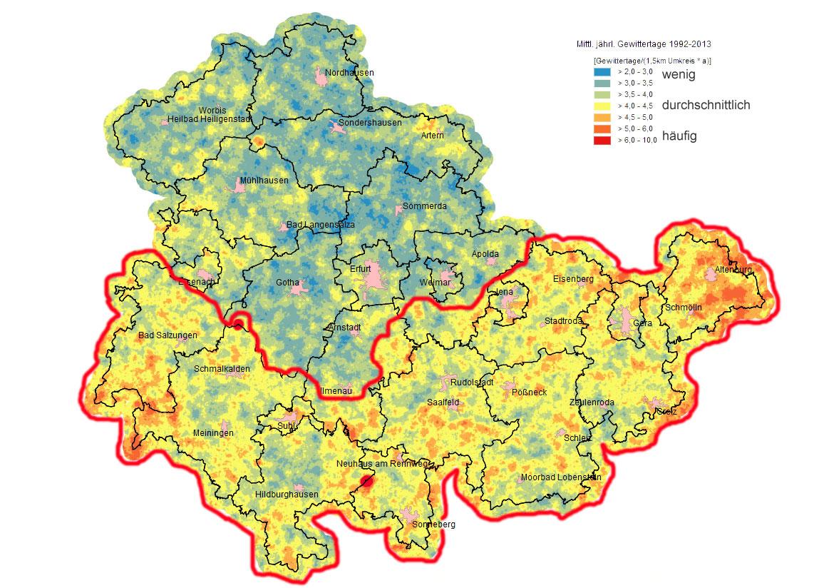 Geologische Karte Thüringen.Gewitter Thüringer Storm Chaser Tsc